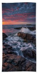 Spring Sunrise At Marginal Way Hand Towel