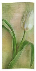 Spring Tulip Montage Hand Towel