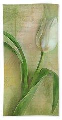 Spring Tulip Montage Bath Towel