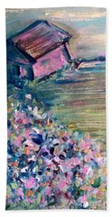 Bath Towel featuring the painting Springtime by Deborah Nell