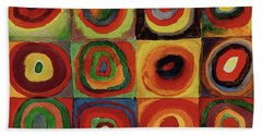 Squares With Concentric Circles 1913  Hand Towel