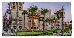 St. Augustine Downtown Christmas Bath Towel