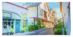 Aviles Street St Augustine Florida 001 Hand Towel