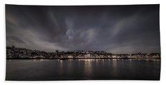 St Ives Cornwall - Dramatic Sky Bath Towel