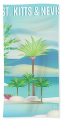 St. Kitts And Nevis, Vertical Skyline Bath Towel