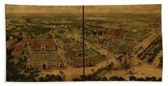 St Louis Missouri Worlds Fair Vintage City Street Map 1904 Hand Towel