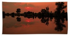 St. Vrain Sunset Bath Towel