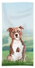 Staffordshire Bull Terrier Hand Towel