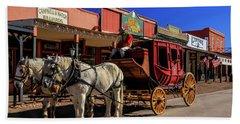 Stagecoach, Tombstone Bath Towel