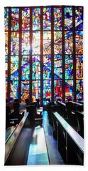 Stained Glass Historical Our Lady Of Czestechowa Shrine Bath Towel