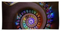Stained Glass Spiral Bath Towel