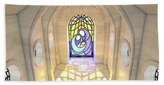 Stained Glass Window Nativity Scene Hand Towel
