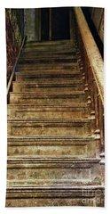 Staircase At Ohio State Reformatory Mansfield Ohio  1390 Bath Towel