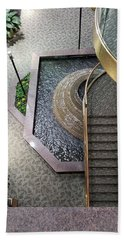 Stairs And Fountain  Bath Towel