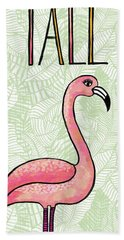 Stand Tall Flamingo Art Bath Towel