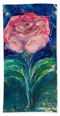 Standing Rose Hand Towel