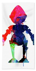 Star Droid Watercolor 4 Hand Towel