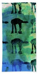 Star Ground Warrior Collage Watercolor 1 Bath Towel