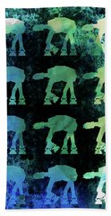 Star Ground Warrior Collage Watercolor 2 Bath Towel