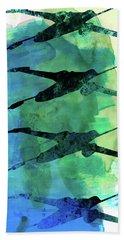 Star Warrior X-wing Watercolor 1 Bath Towel