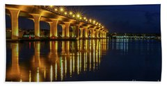 Starburst Bridge Reflection Bath Towel