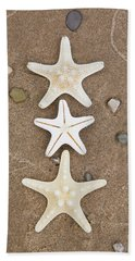 Starfish In The Sand Hand Towel