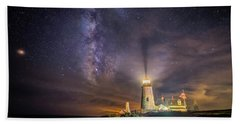 Starry Night At Pemaquid Hand Towel