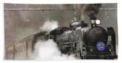 Steam Engine, Locomotive, Train Bath Towel
