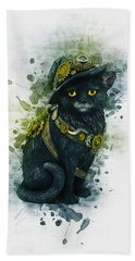 Steampunk Kitty Hand Towel