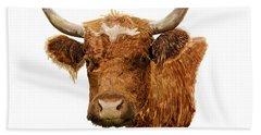 Steer Portrait - Barnyard Bunch Collection Hand Towel