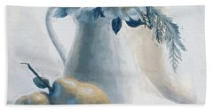 Still Life Of Flowers And Fruits Bath Towel