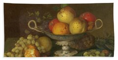 Still Life With Fruit, 1844 Hand Towel