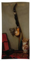 Still Life With Pipe And Matches, 1858 Hand Towel