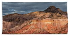Storm Above Ghost Ranch Mountains Bath Towel