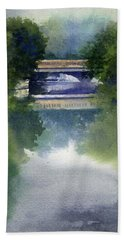 Stormy Day On Bridge Road Bath Towel