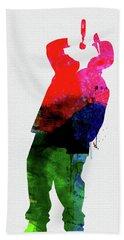 Straight Outta Compton Watercolor Hand Towel