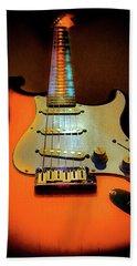 Stratocaster Triburst Glow Neck Series Bath Towel