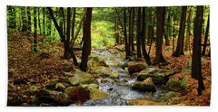 Bath Towel featuring the photograph Stream Rages Horizontal Format by Raymond Salani III