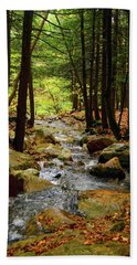 Bath Towel featuring the photograph Stream Rages Vertical Format by Raymond Salani III