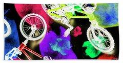 Street Bike Art Hand Towel
