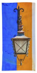 Street Lamp Of Obidos Hand Towel