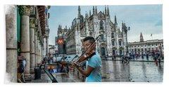 Street Music. Violin. Hand Towel