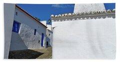 Streets Of A Medieval Castle. Alentejo Hand Towel