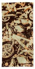 Stunt Bike Country Hand Towel