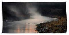 Sturgeon River Morning Bath Towel