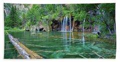 Bath Towel featuring the pastel Submerged Log, Hanging Lake Colorado by Nathan Bush