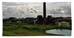 Sugar Factory I, Usine Ste. Madeleine Bath Towel