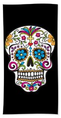 Sugar Skull Day Of The Dead Hand Towel
