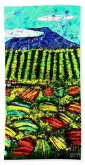 Sumatra Coffee Plantation Bath Towel