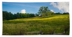 Blue Ridge Parkway - Summer Fields Of Yellow - Lone Tree Bath Towel
